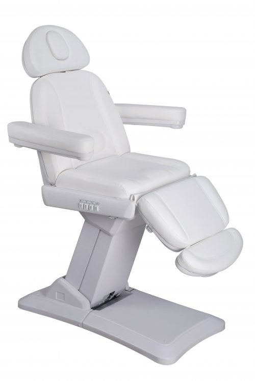 White electrical facial chair