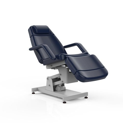 Navy blue 4 motor economic electric facial bed and chair